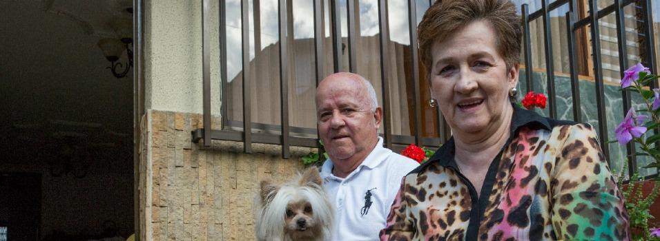 Leonel y su esposa Inés, vecino de siempre de El Trianón. Fotos: Edwin Bustamante.