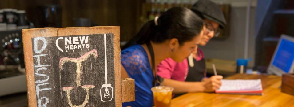 Café New Hearts, en Laureles, Medellín.