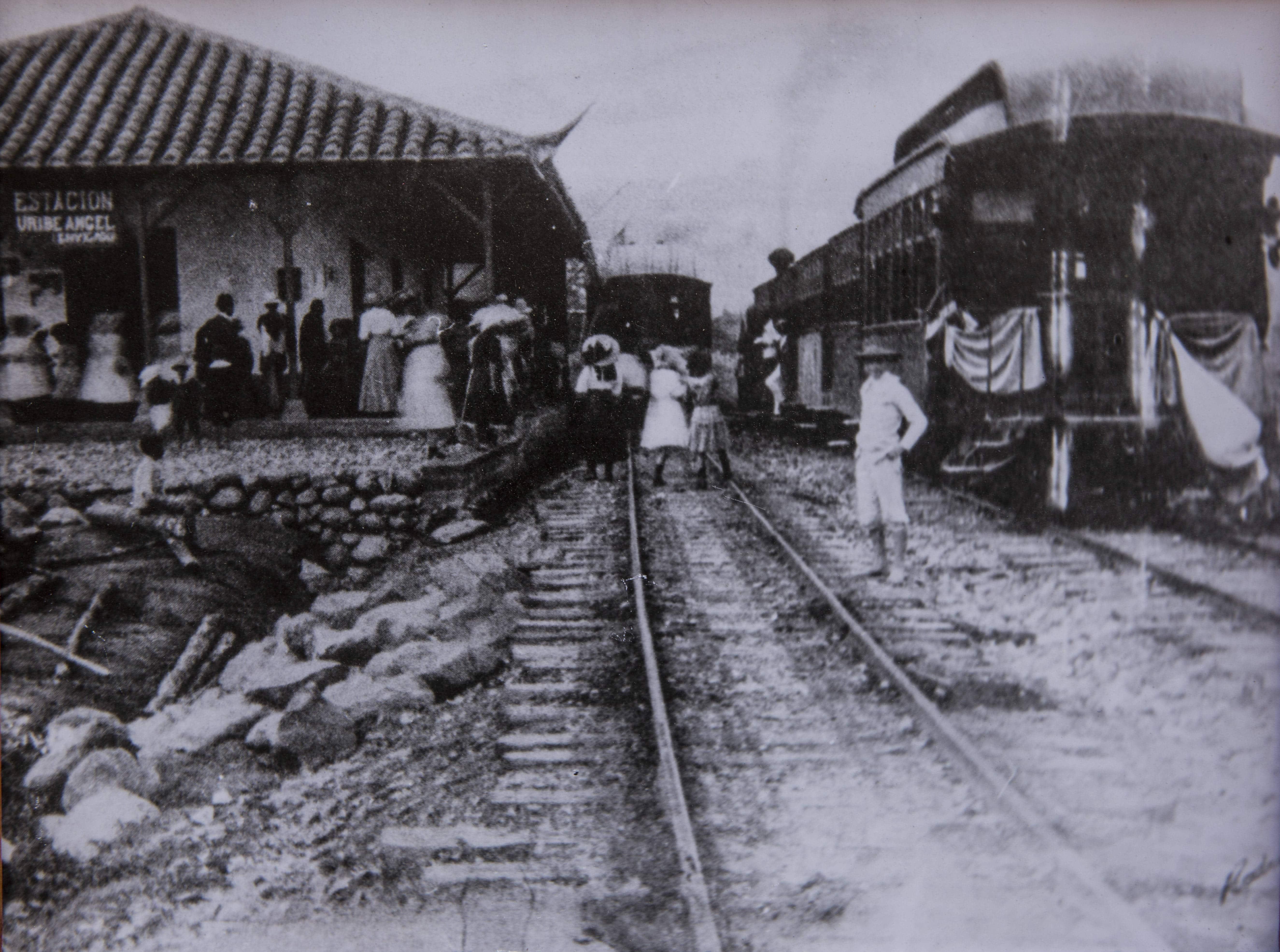 La vieja estación, en Las Vegas (hoy, al frente de Peldar).