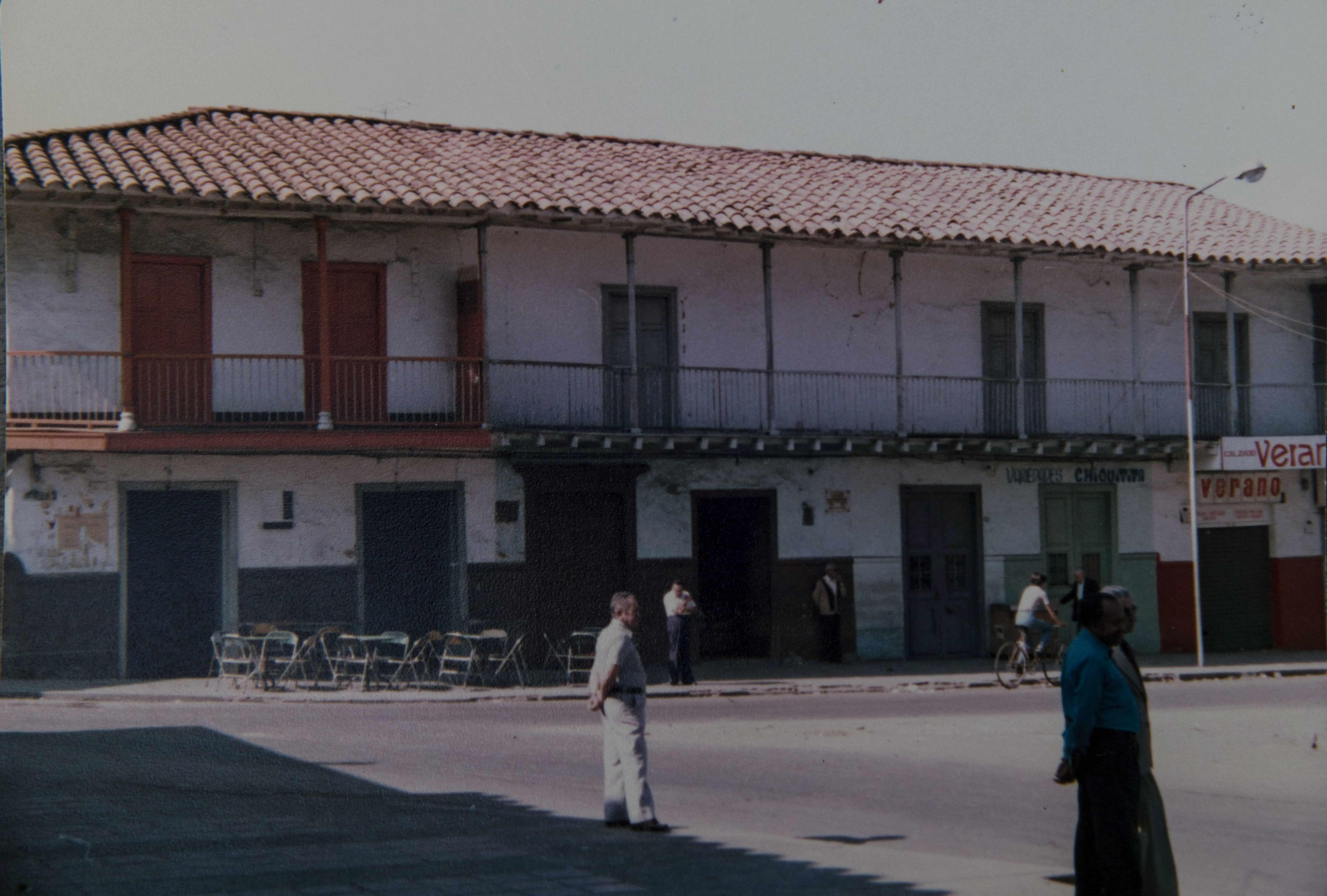 Costado del parque donde hoy está el parqueadero y café La Totuma.