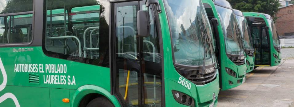 Los buses de El Poblado contaminaran menos