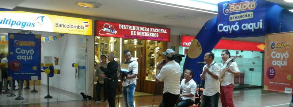 Baloto cayó en Unicentro Medellín