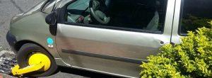 Inicia el uso de cepos a vehículos mal parqueados en Envigado