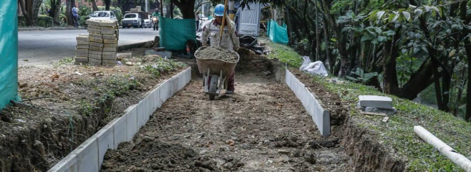 Avanzan obras en el corredor verde de La Picacha