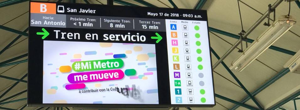Conozca las nuevas pantallas informativas del metro