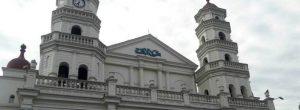 Indignación en Envigado por grafiti en la iglesia principal