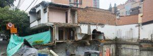 Se desplomó muro de un preescolar en Conquistadores
