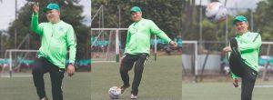 Un tiro libre con la leyenda Hernán Darío Herrera