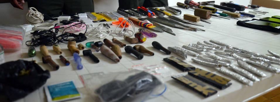 Encontraron 85 armas en la cárcel de Envigado