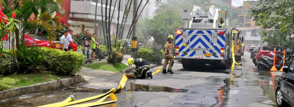 Incendio en una bodega de Laureles