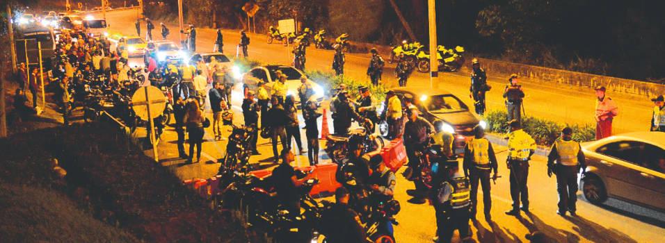 Más de 50 vehículos inmovilizados, en control en Las Palmas