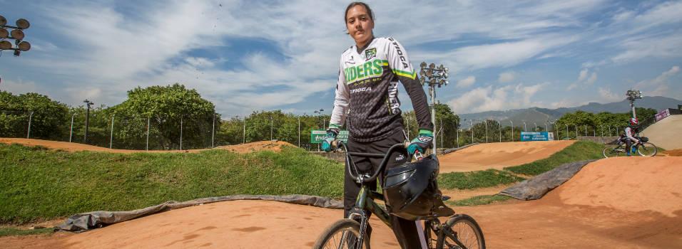 Manuela quedó de quinta en el Mundial de BMX