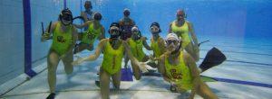 Vecinas de Laureles participarán en el mundial de hockey subacuático