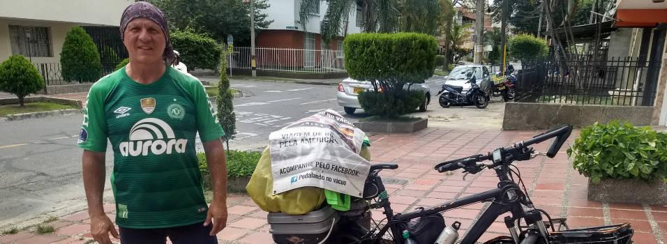 Laureles, la última parada de un brasileño que recorrió Latinoamérica en bici