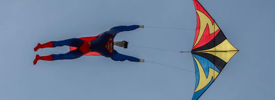 Ni Supermán se perdió el festival de cometas de Envigado