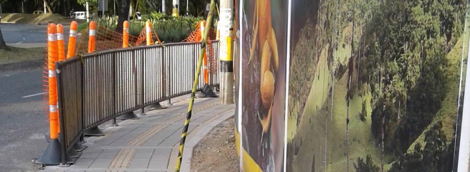 Reducción de aceras en el centro comercial de la 70 será temporal