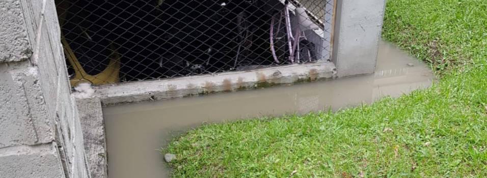 Después de un aguacero colapsó alcantarillado en urbanización de Belén