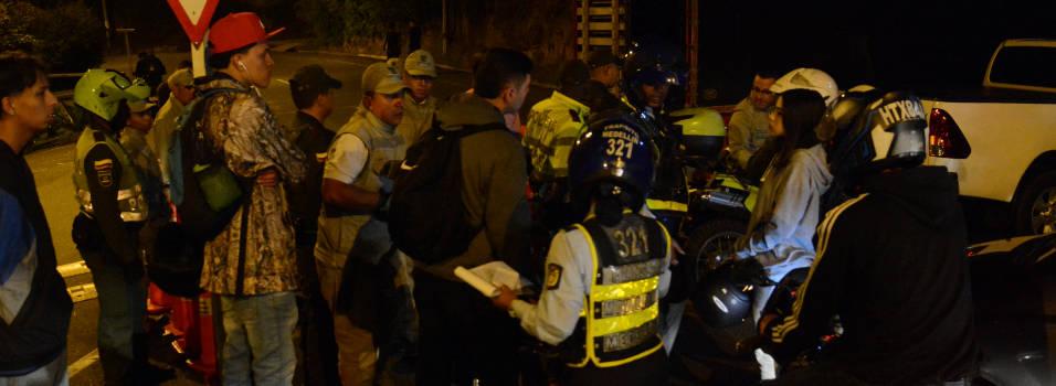 Operativo contra piques en Las Palmas dejó más de 90 comparendos