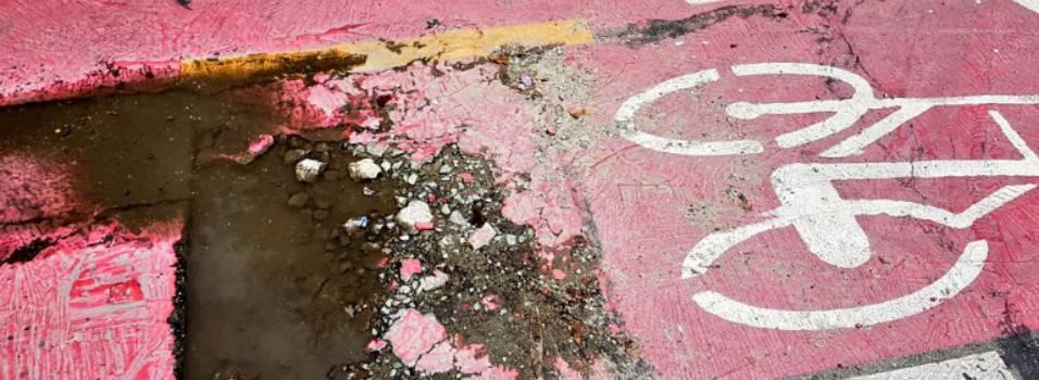 Vecino se queja del mal estado de la ciclorruta de San Juan