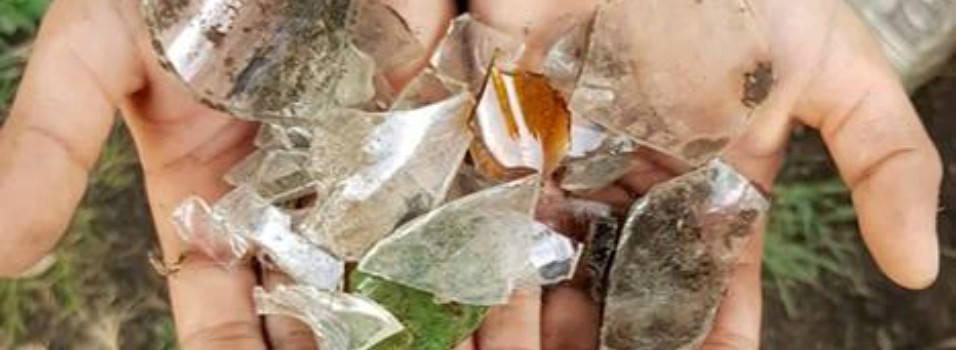¿Qué pasó con los vidrios regados en el parque La Merced?