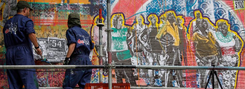 Colectivo artístico creó un mural en la avenida Jardín