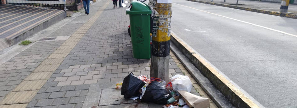 La 30 con la 80, foco de basuras por falta de cultura ciudadana