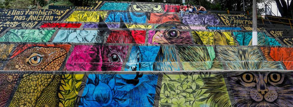 En Envigado buscan evitar puntos críticos de basuras con murales