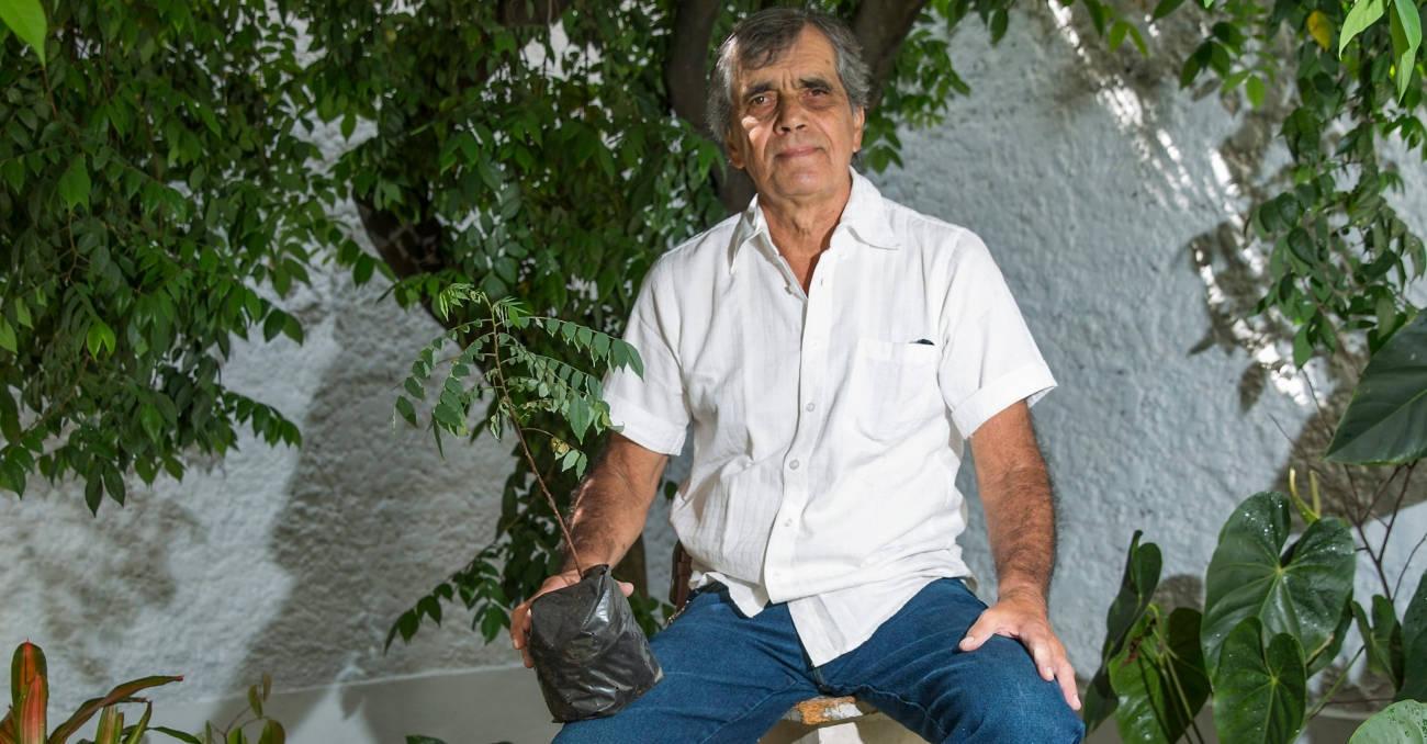 Chepe es el jardinero de Laureles Estadio