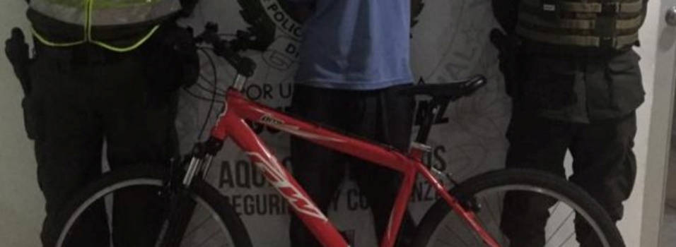 Policía frustró el robo de una bicicleta en Laureles