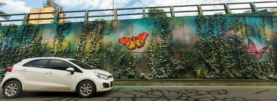 ¿Quién pintó estos murales en el puente de La Aguacatala?