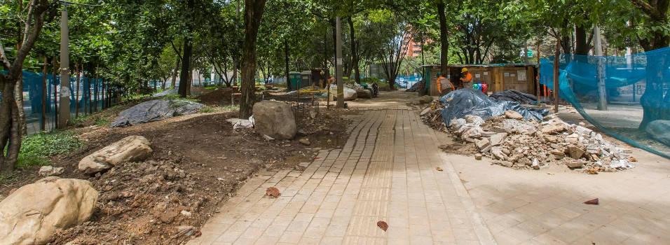 Así avanzan las obras en los parques del occidente de Medellín