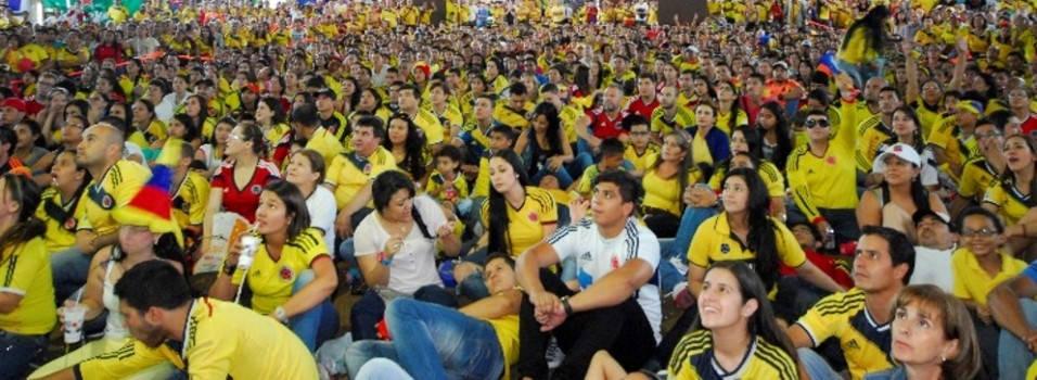 En los centros comerciales se vive la alegría de la Copa América