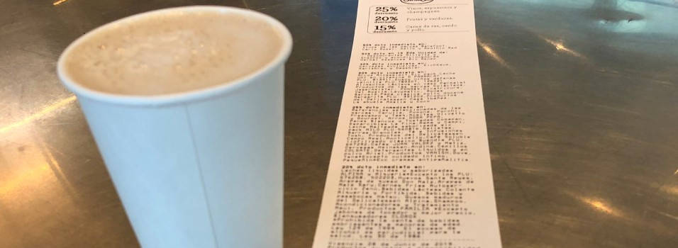 Un vecino denuncia una tirilla más grande que el café