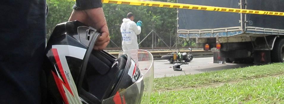 1731 accidentes con moto han ocurrido en el occidente de Medellín este año