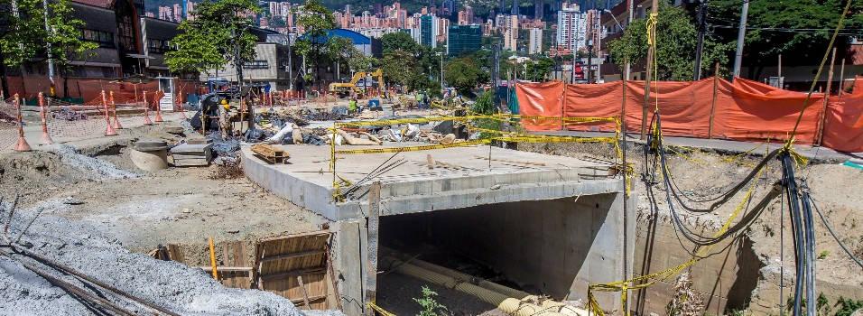 Buscan contratista para terminar obras de metroplús en Aguacatala