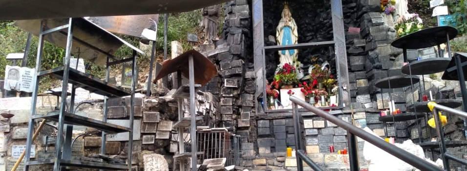 Virgen de La Aguacatala quedó intacta luego del incendio