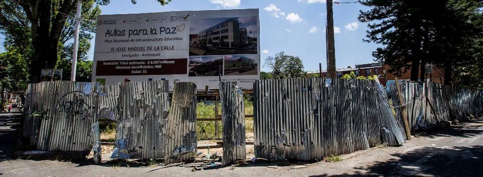 Buscarán nuevo contratista para terminar los colegios en obra en Envigado