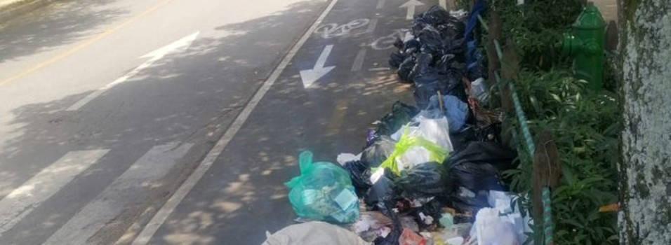 Ciclorruta en Belén se convirtió en un botadero de basuras