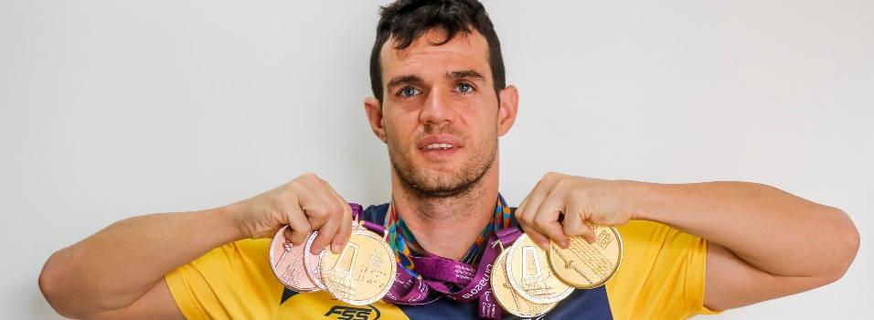 Daniel ganó 4 oros y 2 bronces en los Parapanamericanos
