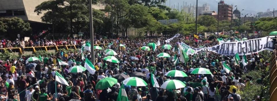 Policía destaca el buen comportamiento en la marcha del #21N en Medellín