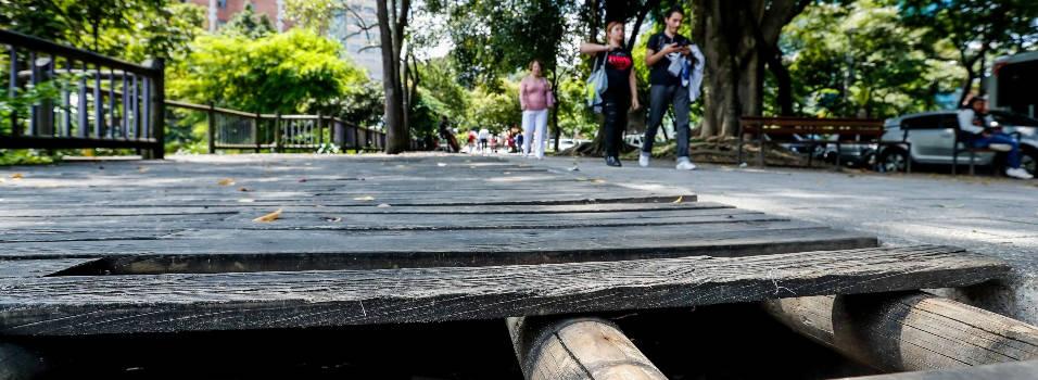 Un peligro caminar por el Parque Lineal La Presidenta