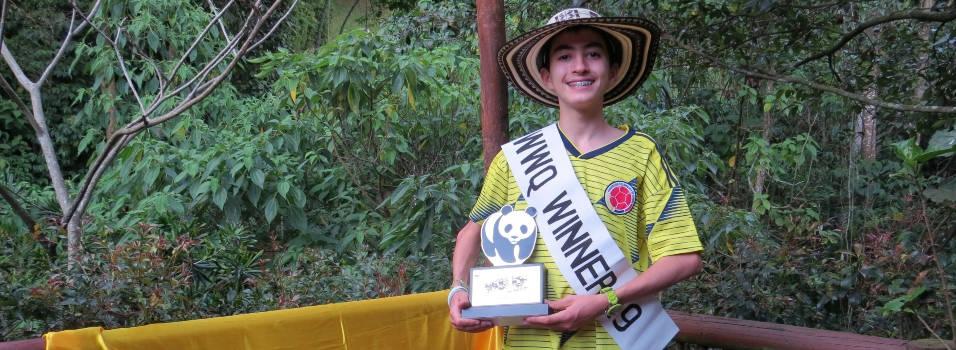 Estudiante del Montessori ganó concurso sobre biodiversidad en India